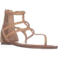 AR35 Madora Flat Thong Sandals, Light Natural