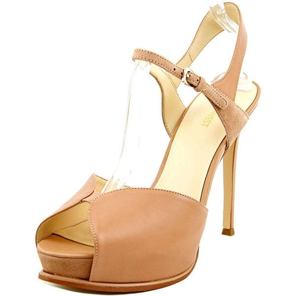 Nine West Cruzeto Women Open Toe Leather Platform Sandal