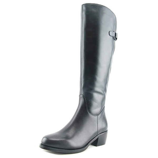 Vaneli Vail Women Round Toe Leather Black Knee High Boot