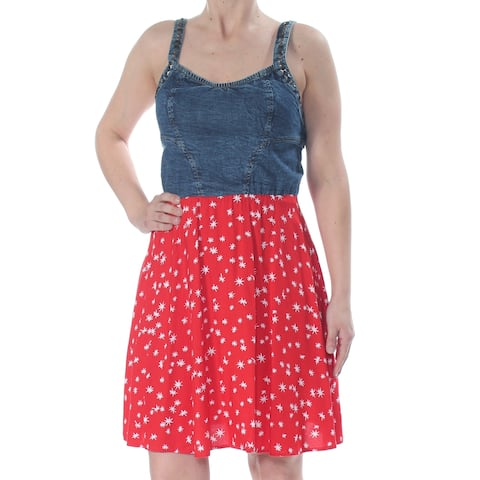 ANGIE Womens Red Above The Knee Dress Size: S