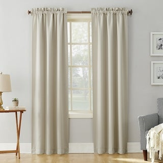 Link to Sun Zero Hayden Energy Saving Blackout Rod Pocket Curtain Panel Similar Items in Window Treatments