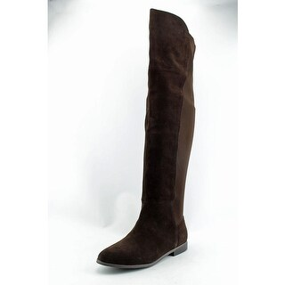 Chinese Laundry Radiance Women Round Toe Suede Brown Knee High Boot