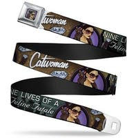 Catwoman Bombshell Face Full Color Purple Catwoman Nine Lives Of A Feline Seatbelt Belt
