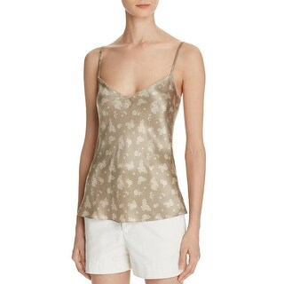 Vince Womens Calico Camisole Top Silk Floral Print