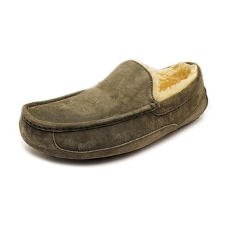 Ugg Australia Ascot Men Round Toe Suede Gray Slipper