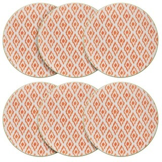 Link to Pfaltzgraff Geo Orange Diamond 7IN Padprint Salad Plate (Set of 6) Similar Items in Dinnerware