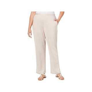 Alfred Dunner Womens Acadia Casual Pants Wide Leg Loose Fit