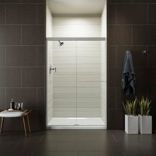 "Kohler K-707106-L Revel Frameless Sliding 76"" x 47-5/8"" Shower Door with Clear Glass"