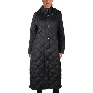 Ellen Tracy Womens Quilted Coat Down Quilted - L