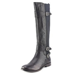 Frye Anna Gore Tall Round Toe Leather Knee High Boot