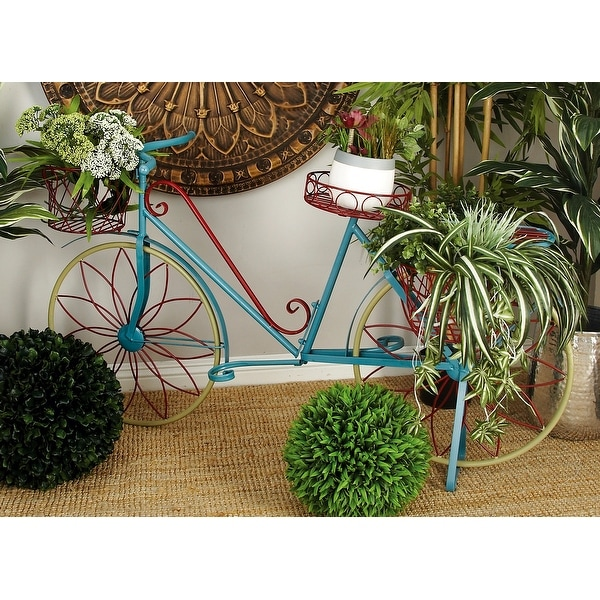 Farmhouse 32 x 54 Inch Metal Bicycle Plant Stand by Studio 350. Opens flyout.