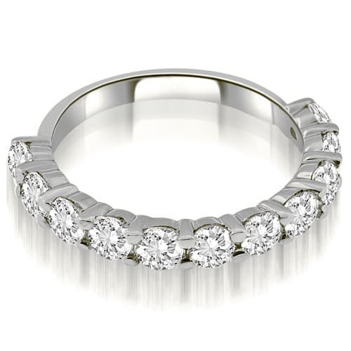 1.65 cttw. 14K White Gold Round Cut Diamond Wedding Band