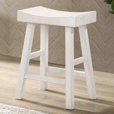"Furniture of America Howler Transitional 24"" Saddle Stool (Set of 2)"