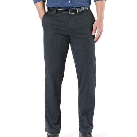 Dockers Mens Signature Khaki Pants Gray Size 38x29 Straight Fit Stretch
