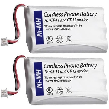 Replacement Battery BATT-63421-01/ CPH-488Q3 (2 Pack) Works With Plantronics Models CT-11 & CT-12