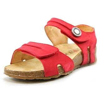 Haflinger Patricia Women Open Toe Leather Red Gladiator Sandal