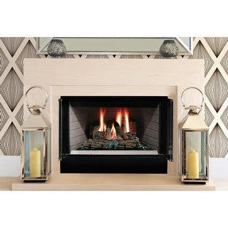 "Majestic SA36C 36"" Circulating Wood Burning Fireplace from the Sovereign Collection - Black"