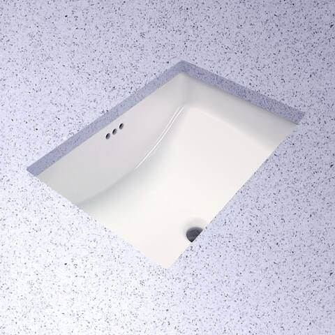 "PROFLO PF1812U Rectangular 21"" Undermount Bathroom Sink"