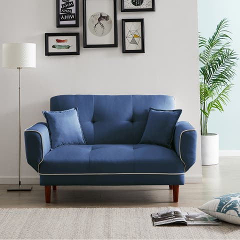 Living Room Modern Sofa Bed Sleeper with 2 Pillows