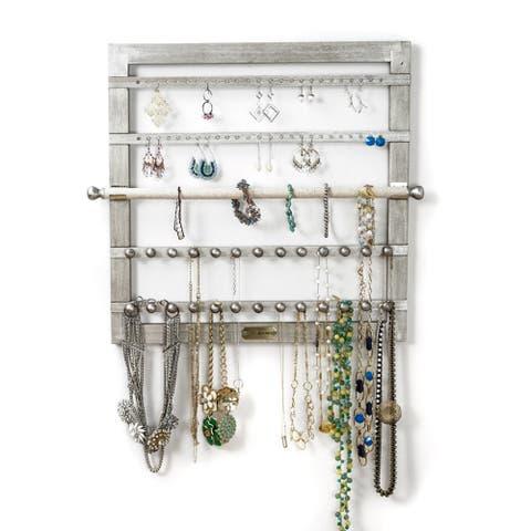 Hives & Honey Silver Jewelry Organizer with Bracelet Holder