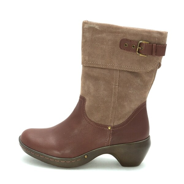 Easy Spirit Womens Corena Leather Almond Toe Ankle Fashion Boots