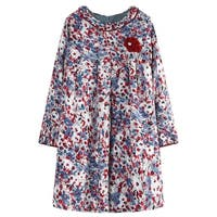 Richie House Girls' A-shaped Dress with Colorful Print