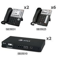 AT&T(2) SB35010 + (6) SB35025 +(2) SB35031 With 8 Multi-Line Desksets