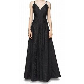 Calvin Klein NEW Black Women's Size 4 Empire Waist V-Neck Dress