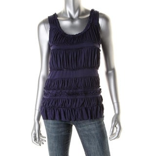 Anne Klein Womens U-Neck Sleeveless Pullover Top - S