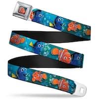Nemo Smiling Full Color Nemo & Dory Poses Webbing Seatbelt Belt Fashion Belt