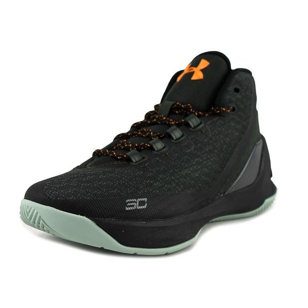 Under Armour GS Curry 3 Youth Round Toe Canvas Black Basketball Shoe