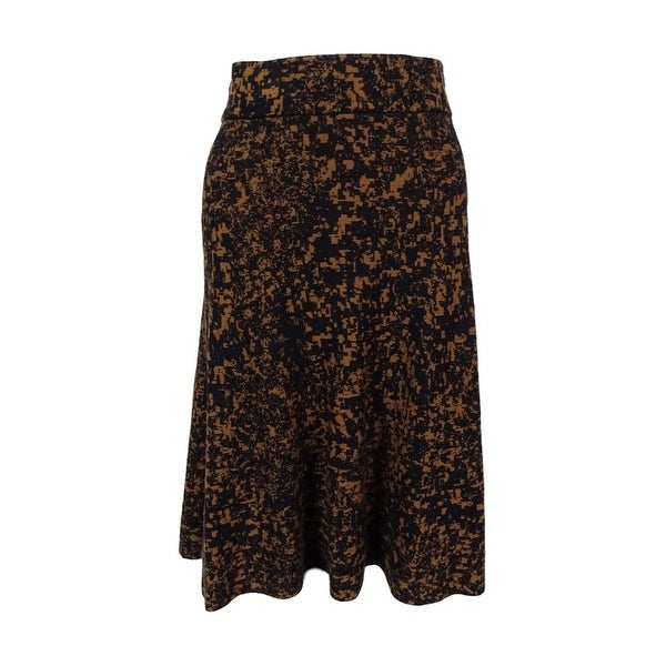 Alfani Women's Printed A-Line Knit Skirt