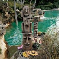 Design Toscano Tiki Gods Statue Set of Gods of the Three Pleasures Luau