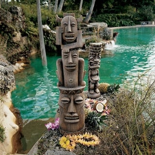 Design Toscano Tiki Gods Statue: Set of Gods of the Three Pleasures and The God of the Luau