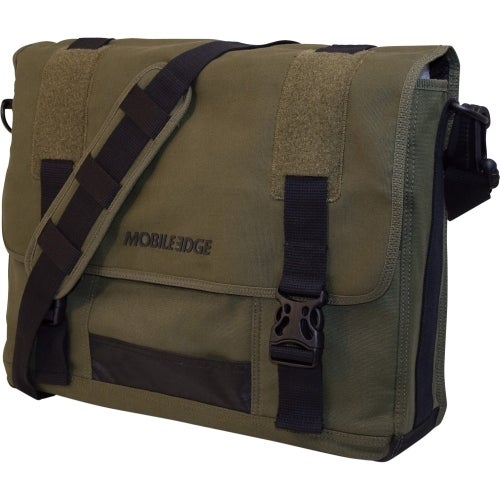 """Mobile Edge MECME9 Mobile Edge 17.3"" Eco-Friendly Canvas Messenger Bag - 17.3"" Screen Support - 13"" x 17.5"""