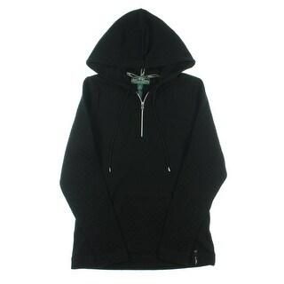 L-RL Lauren Active Womens 1/4 Zip Jacket Hooded Long Sleeve