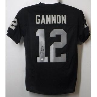 Rich Gannon Autographed Oakland Raiders Black Size XL Jersey JSA