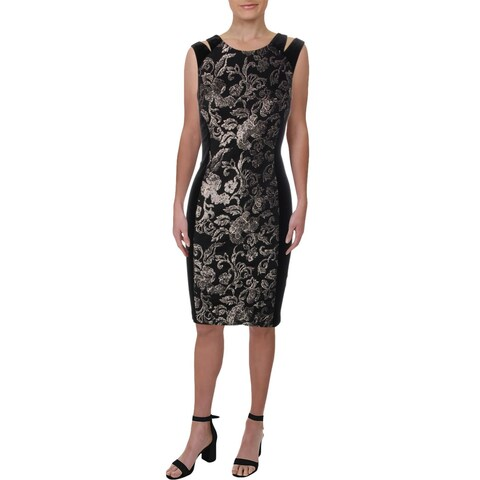 Connected Apparel Womens Party Dress Velvet Sequined
