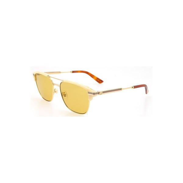 eaf9a809268 Shop Gucci Brown Sunglasses Gg0241S 004 54 - Beige   Gold - One Size - Free  Shipping Today - Overstock - 24266499