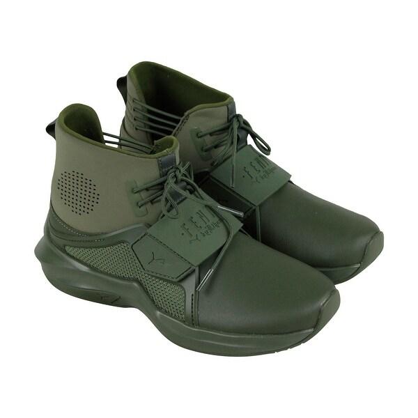 Puma Womens Fenty by Rihanna Riri Green Trainer Hi 19039802 Athletic Shoes 63d1f7c81