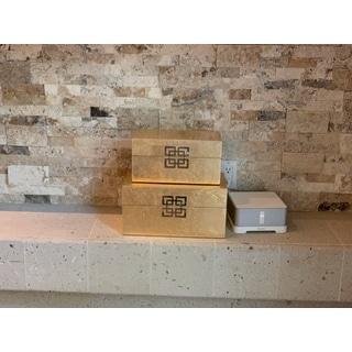 Danes Gold Leaf Boxes (Set of 2)