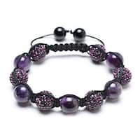Bling Jewelry Inspired Bracelet Crystal Amethyst Beads