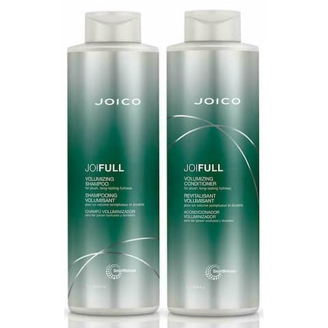 Joico JoiFull Volumizing Shampoo & Conditioner Liter Duo (33.8 oz) - Clear