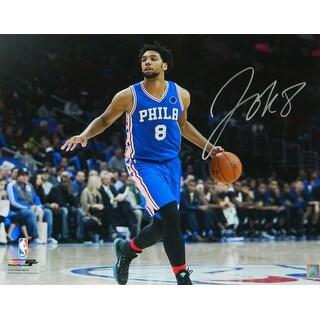 Jahlil Okafor Philadelphia 76ers Dribbling Action 16x20 Photo