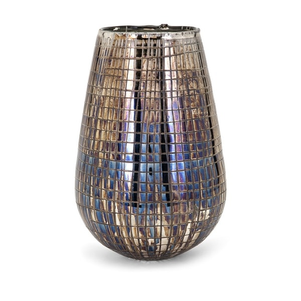 IMAX Home 13853 Reaka Large Glass Vase - Multi-Colored
