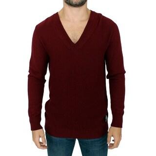 Karl Lagerfeld Karl Lagerfeld Bordeaux v-neck pullover sweater