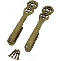 Solid Brass Carpet Clip Stair Holder Pair Lifetime Finish | Renovator's Supply