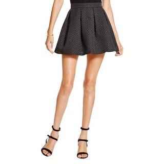 Aqua Womens Flare Skirt Metallic Above Knee