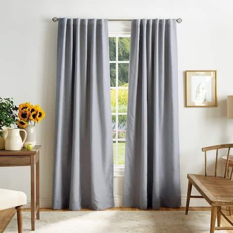 Martha Stewart Bedford Woven Plaid Blackout Curtain Panel Pair