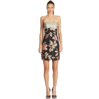 A.B.S. by Allen Schwartz Floral Pattern Strapless Sweetheart Cocktail Dress - 8